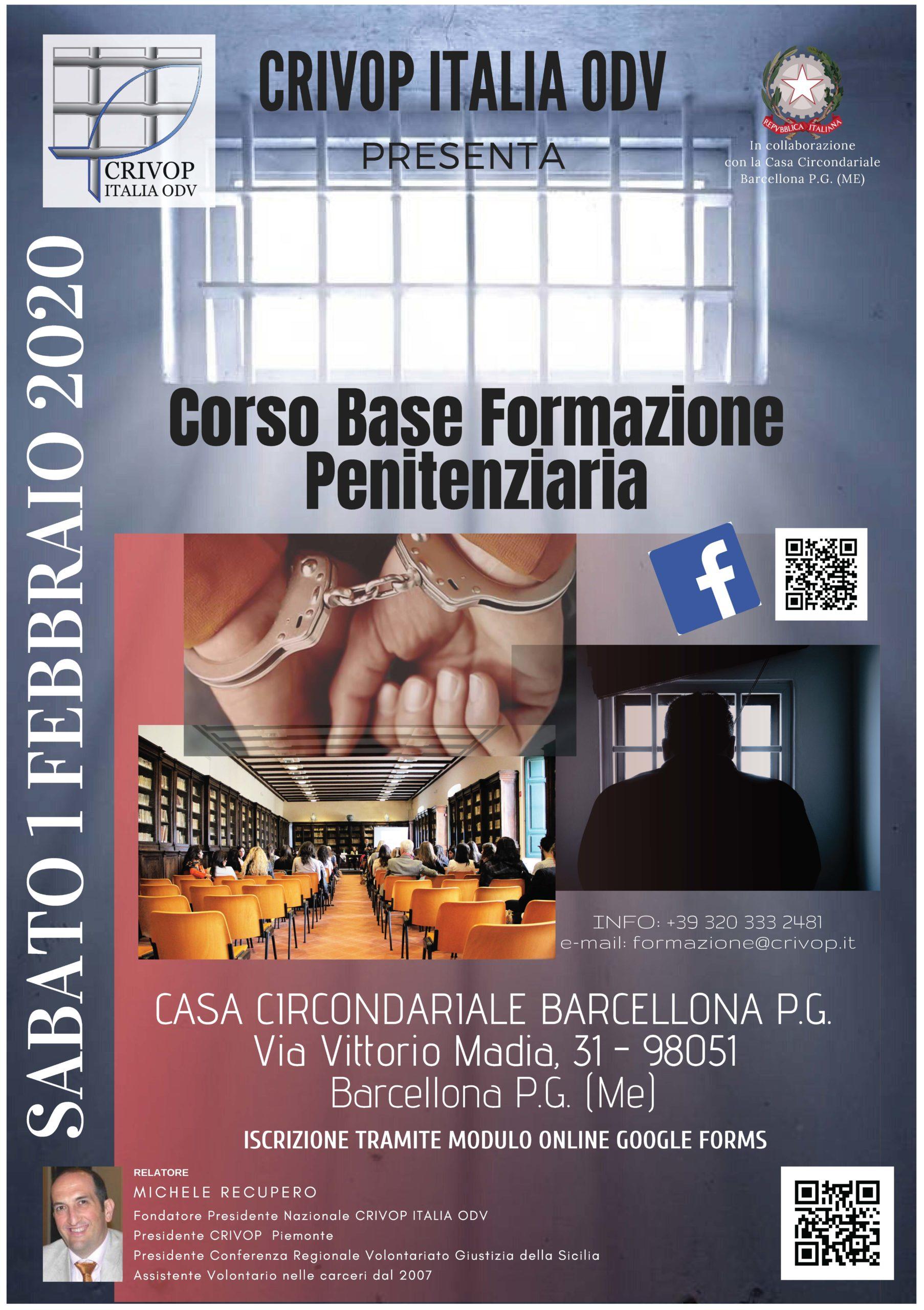 Corso Base Formazione Penitenziaria – Barcellona P. G. (Messina)