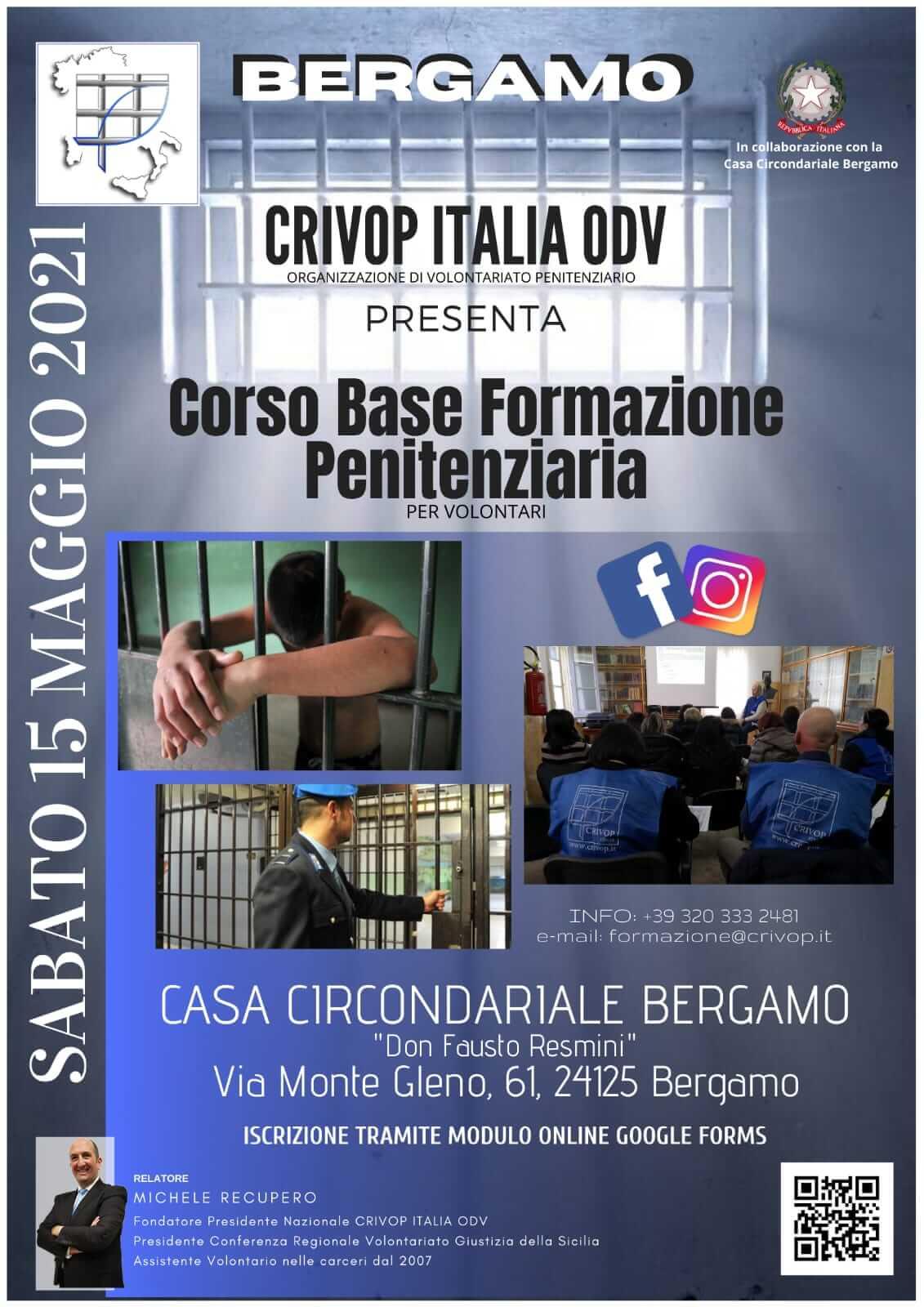 Corso Base Formazione Penitenziaria a Bergamo